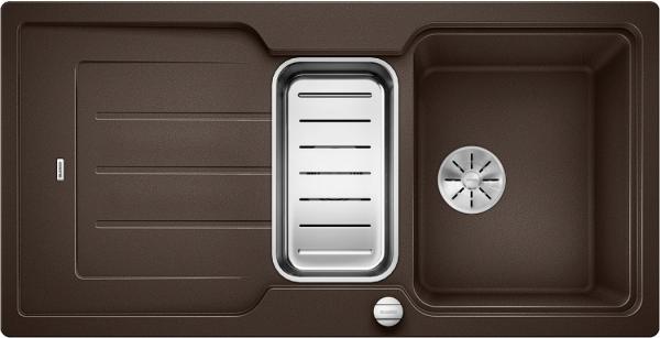 Blanco Classic Neo 6 S 524126 Spoelbak Silgranit Café Inclusief Draaiknopbediening Inclusief Accessoires Omkeerbaar Opbouw