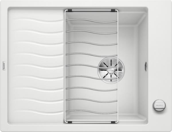 Blanco Elon 45 S 524818 Spoelbak Silgranit Wit Inclusief Draaiknopbediening Inclusief Rooster Omkeerbaar Onderbouw Of Opbouw