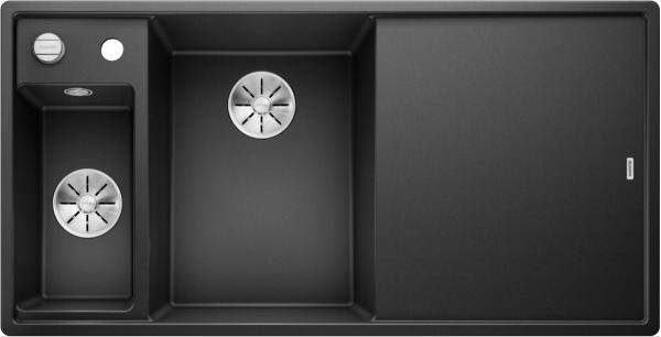 Blanco Axia Iii 6 S 524653 Spoelbak Links Silgranit Antraciet Inclusief Draaiknopbediening Inclusief Glazen Snijplank Onderbouw Of Opbouw