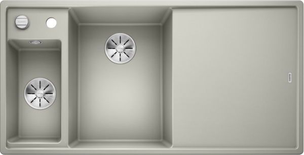 Blanco Axia Iii 6 S 524656 Spoelbak Links Silgranit Parelgrijs Inclusief Draaiknopbediening Inclusief Glazen Snijplank Onderbouw Of Opbouw