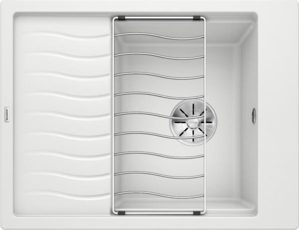 Blanco Elon 45 S 524828 Spoelbak Silgranit Wit Inclusief Rooster Omkeerbaar Onderbouw Of Opbouw