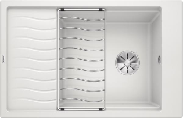Blanco Elon Xl 6 S 524848 Spoelbak Silgranit Wit Inclusief Rooster Omkeerbaar Onderbouw Of Opbouw
