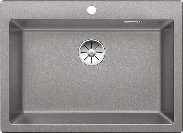 Blanco Pleon 8 523045 Spoelbak Silgranit Aluminium Metallic Onderbouw Of Opbouw