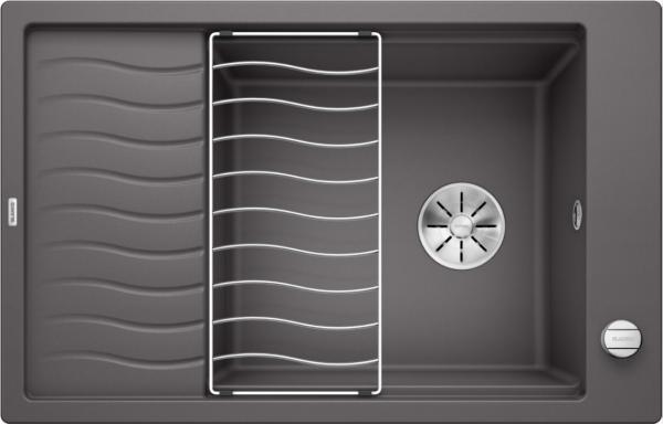 Blanco Elon Xl 6 S 524835 Spoelbak Silgranit Rotsgrijs Inclusief Draaiknopbediening Inclusief Rooster Omkeerbaar Onderbouw Of Opbouw