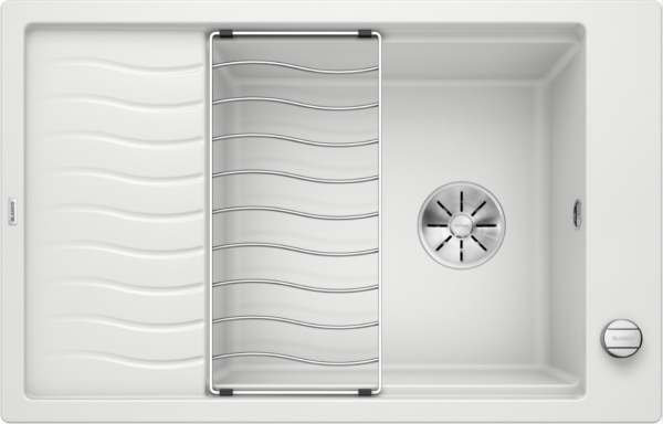 Blanco Elon Xl 6 S 524838 Spoelbak Silgranit Wit Inclusief Draaiknopbediening Inclusief Rooster Omkeerbaar Onderbouw Of Opbouw