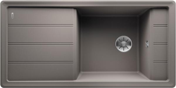 Blanco Faron Xl 6 S 524805 Spoelbak Silgranit Aluminium Metallic Omkeerbaar Onderbouw Of Opbouw