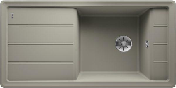 Blanco Faron Xl 6 S 524806 Spoelbak Silgranit Parelgrijs Omkeerbaar Onderbouw Of Opbouw