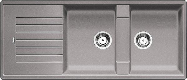 Blanco Zia 8 S 515596 Dubbele Spoelbak Silgranit Aluminium Metallic Omkeerbaar Onderbouw Of Opbouw