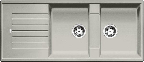 Blanco Zia 8 S 520638 Dubbele Spoelbak Silgranit Parelgrijs Omkeerbaar Onderbouw Of Opbouw