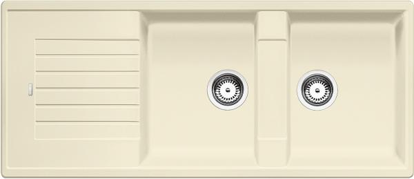 Blanco Zia 8 S 515598 Dubbele Spoelbak Silgranit Jasmijn Omkeerbaar Onderbouw Of Opbouw