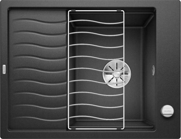 Blanco Elon 45 S 524814 Spoelbak Silgranit Antraciet Inclusief Draaiknopbediening Inclusief Rooster Omkeerbaar Onderbouw Of Opbouw