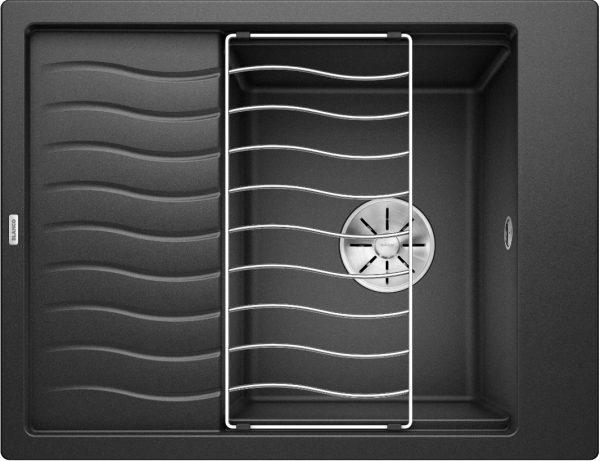 Blanco Elon 45 S 524824 Spoelbak Silgranit Antraciet Inclusief Rooster Omkeerbaar Onderbouw Of Opbouw
