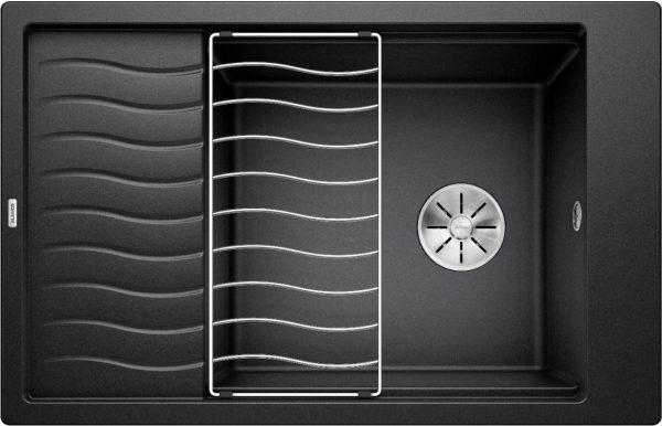 Blanco Elon Xl 6 S 524844 Spoelbak Silgranit Antraciet Inclusief Rooster Omkeerbaar Onderbouw Of Opbouw