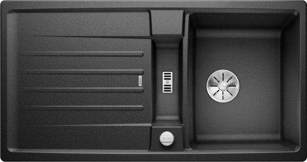 Blanco Lexa 5 S 524920 Spoelbak Silgranit Antraciet Inclusief Draaiknopbediening Omkeerbaar Onderbouw Of Opbouw