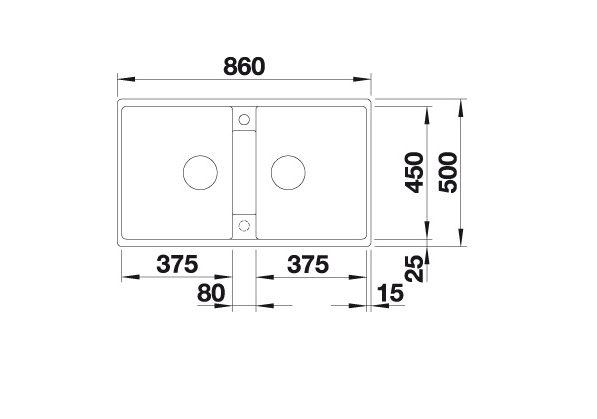 Blanco Zia 9 516683 Dubbele Spoelbak Silgranit Café Onderbouw Of Opbouw