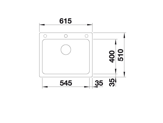 Blanco Naya 6 519638 Spoelbak Silgranit Antraciet Onderbouw Of Opbouw