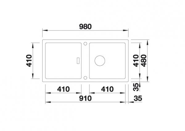 Blanco Adon Xl 6 S 525346 Spoelbak Silgranit Tartufo Inclusief Draaiknopbediening Omkeerbaar Opbouw
