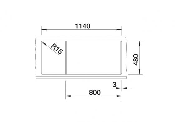 Blanco Metra 8 S 513071 Dubbele Spoelbak Silgranit Antraciet Omkeerbaar Onderbouw Of Opbouw