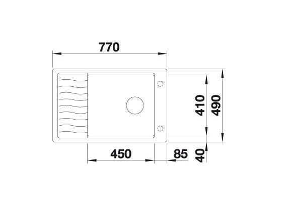 Blanco Elon Xl 6 S-F 524855 Spoelbak Silgranit Rotsgrijs Inclusief Draaiknopbediening Inclusief Rooster Omkeerbaar Vlakbouw