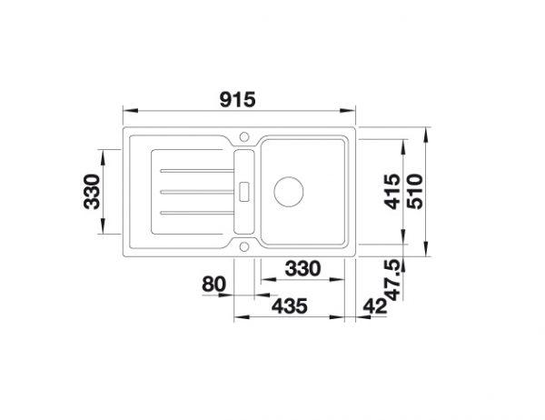 Blanco Classic Neo 5 S 524015 Spoelbak Silgranit Antraciet Inclusief Draaiknopbediening Inclusief Snijplank Omkeerbaar Opbouw