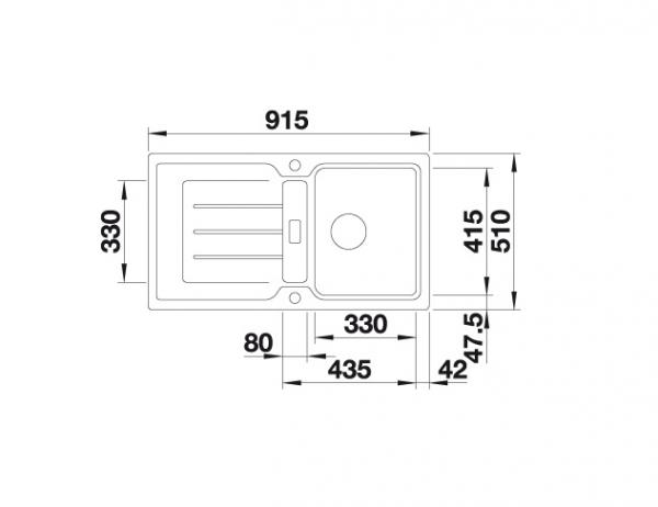 Blanco Classic Neo 5 S 524016 Spoelbak Silgranit Rotsgrijs Inclusief Draaiknopbediening Inclusief Snijplank Omkeerbaar Opbouw