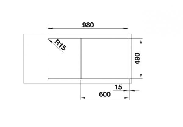 Blanco Axia Iii Xl 6 S 523515 Spoelbak Silgranit Jasmijn Inclusief Glazen Snijplank Omkeerbaar Onderbouw Of Opbouw