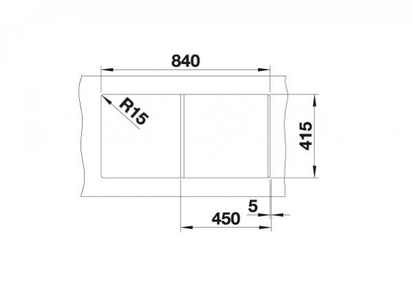 Blanco Favum 45 S 524227 Spoelbak Silgranit Antraciet Omkeerbaar Opbouw