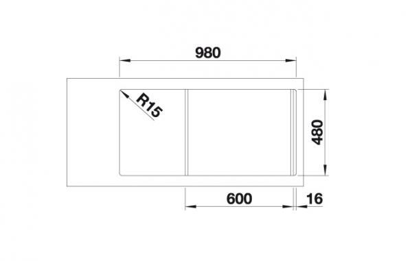 Blanco Faron Xl 6 S 524812 Spoelbak Silgranit Café Omkeerbaar Onderbouw Of Opbouw