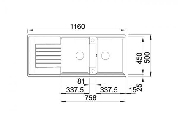 Blanco Zia 8 S 517422 Dubbele Spoelbak Silgranit Tartufo Omkeerbaar Onderbouw Of Opbouw