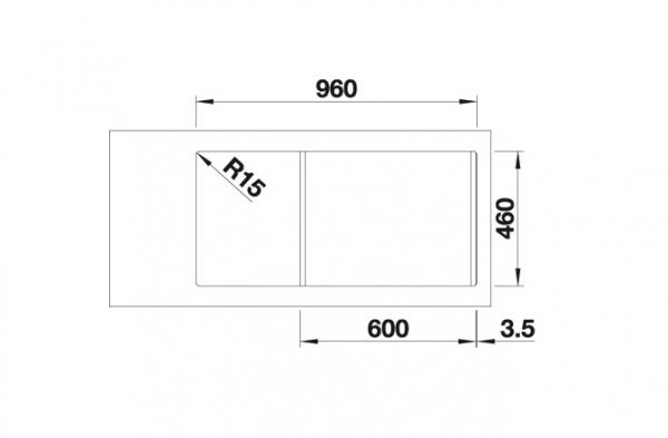Blanco Adon Xl 6 S 525347 Spoelbak Silgranit Antraciet Inclusief Draaiknopbediening Omkeerbaar Opbouw