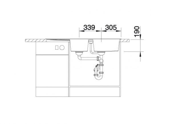 Blanco Metra 8 S 513063 Dubbele Spoelbak Silgranit Aluminium Metallic Omkeerbaar Onderbouw Of Opbouw
