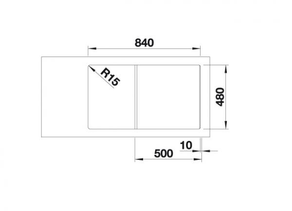 Blanco Zia 5 S 520511 Spoelbak Silgranit Antraciet Onderbouw Of Opbouw