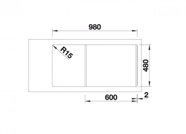 Blanco Sona 6 S 519852 Spoelbak Silgranit Antraciet Omkeerbaar Onderbouw Of Opbouw