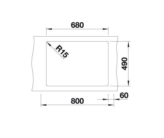Blanco Pleon 8 523043 Spoelbak Silgranit Antraciet Onderbouw Of Opbouw
