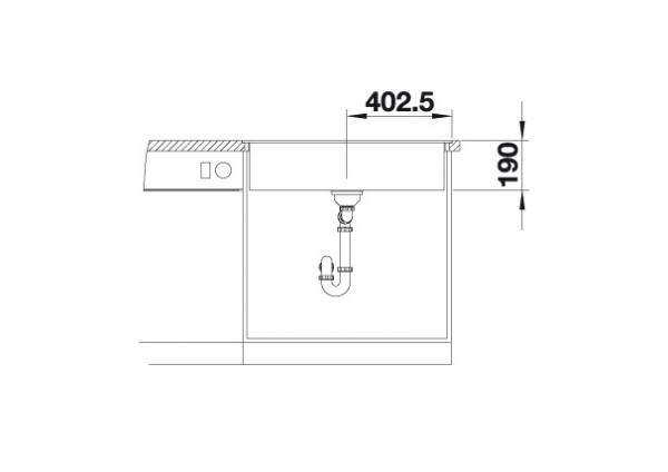 Blanco Dalago 8-F 516645 Spoelbak Silgranit Café Inclusief Draaiknopbediening Vlakbouw