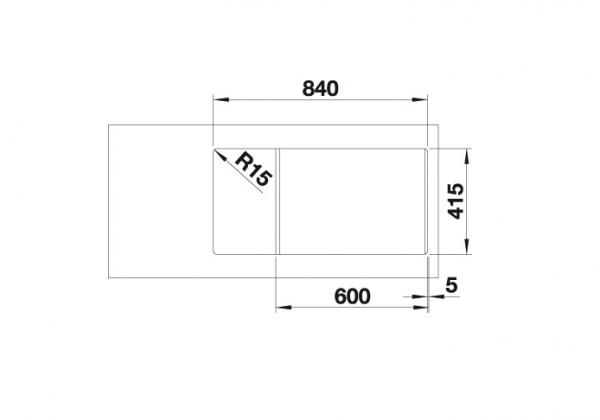 Blanco Favum Xl 6 S 524238 Spoelbak Silgranit Café Omkeerbaar Opbouw