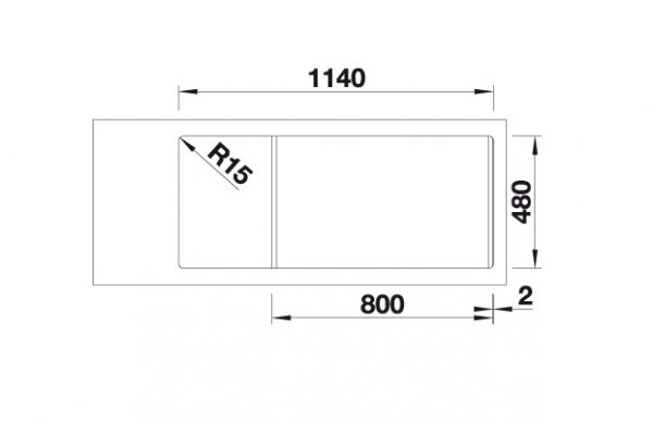 Blanco Sona 8 S 519706 Dubbele Spoelbak Silgranit Café Omkeerbaar Onderbouw Of Opbouw
