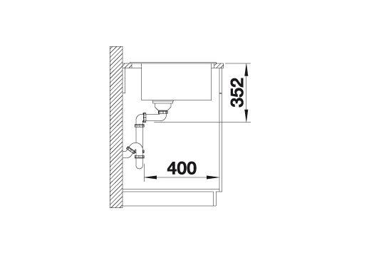 Blanco Naya Xl 9 521819 Spoelbak Silgranit Tartufo Onderbouw Of Opbouw