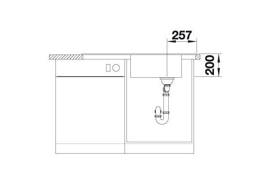 Blanco Faron Xl 6 S 524810 Spoelbak Silgranit Tartufo Omkeerbaar Onderbouw Of Opbouw