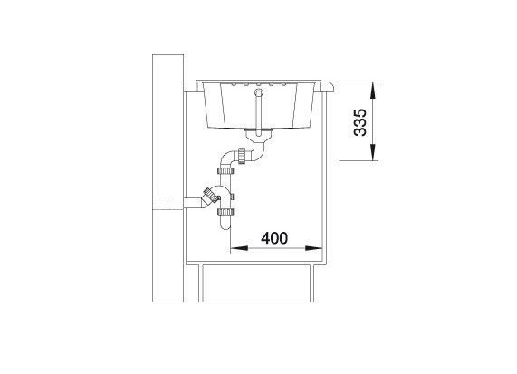 Blanco Zia 40 S 516918 Spoelbak Silgranit Antraciet Omkeerbaar Onderbouw Of Opbouw