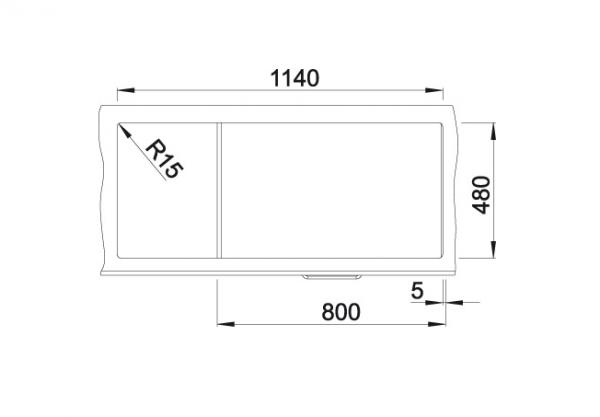 Blanco Zia 8 S 515605 Dubbele Spoelbak Silgranit Antraciet Omkeerbaar Onderbouw Of Opbouw