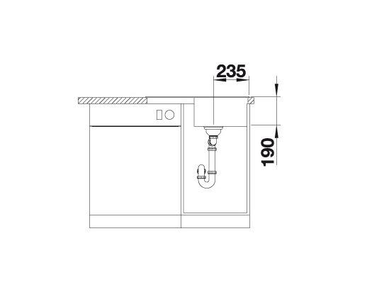 Blanco Zia 45 S Compact 524726 Spoelbak Silgranit Jasmijn Omkeerbaar Onderbouw Of Opbouw