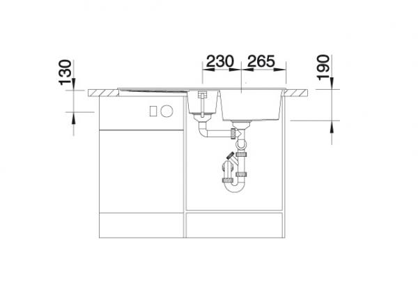 Blanco Metra 6 S 520578 Spoelbak Silgranit Parelgrijs Omkeerbaar Onderbouw Of Opbouw