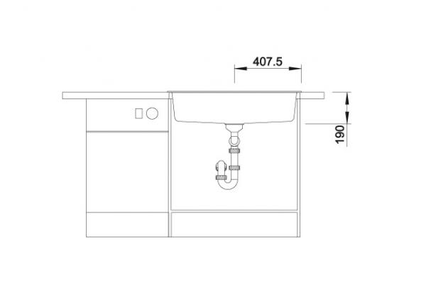 Blanco Dalago 8 516629 Spoelbak Silgranit Antraciet Inclusief Draaiknopbediening Onderbouw Of Opbouw