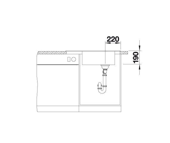 Blanco Elon Xl 6 S 524834 Spoelbak Silgranit Antraciet Inclusief Draaiknopbediening Inclusief Rooster Omkeerbaar Onderbouw Of Opbouw