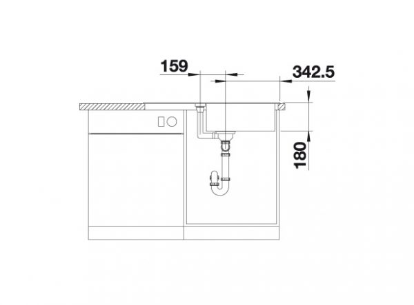 Blanco Favum Xl 6 S 524235 Spoelbak Silgranit Wit Omkeerbaar Opbouw