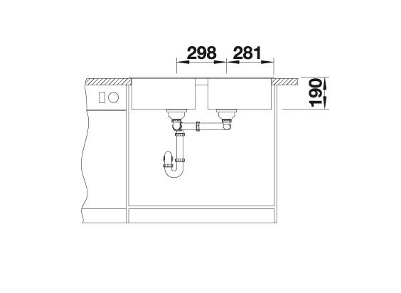 Blanco Zia 9 516678 Dubbele Spoelbak Silgranit Wit Onderbouw Of Opbouw