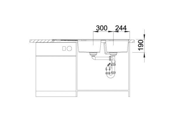 Blanco Zia 8 S 515602 Dubbele Spoelbak Silgranit Café Omkeerbaar Onderbouw Of Opbouw