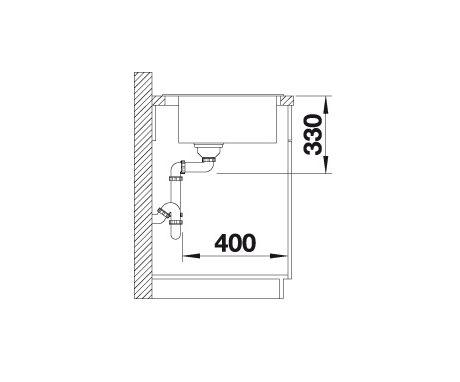 Blanco Naya 6 520593 Spoelbak Silgranit Parelgrijs Onderbouw Of Opbouw