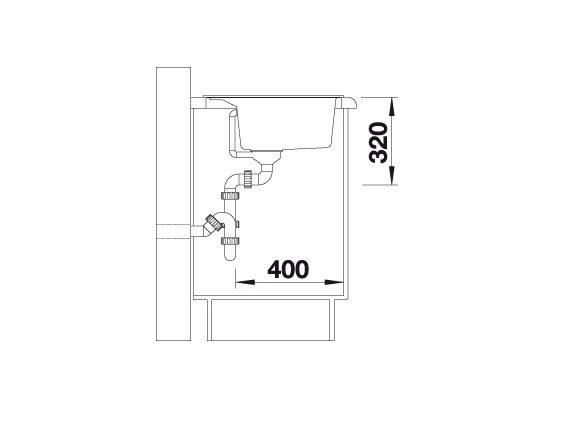 Blanco Dalago 8 516634 Spoelbak Silgranit Jasmijn Inclusief Draaiknopbediening Onderbouw Of Opbouw